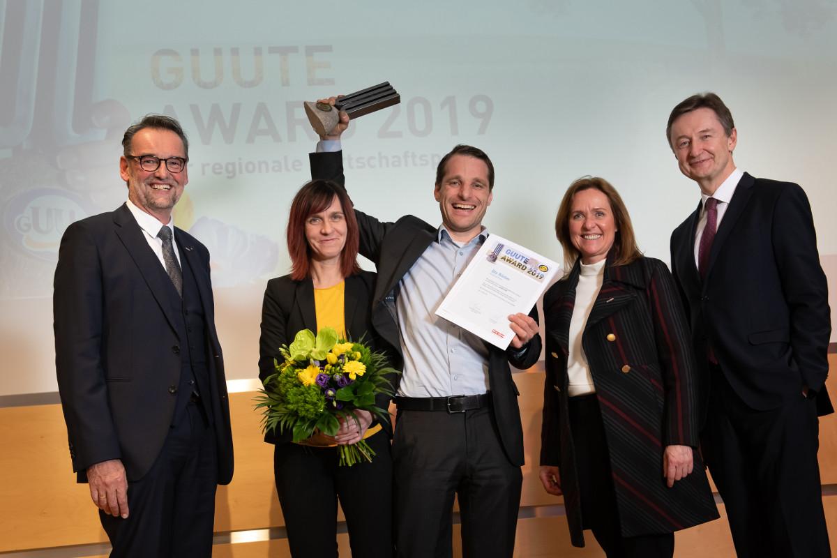 Wolfgang und Daniela Köppl bei der Preisverleihung